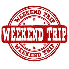 Weekend trip stamp