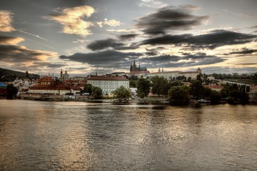 Panorama of Prague, Czech Republic.