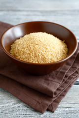 Cane sugar in a bowl