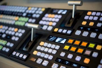 Remote control in a television studio recording