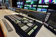 Remote control in a television studio recording. - 77359169