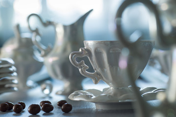 Coffee set on the table