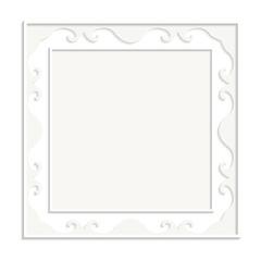 Frame on the white background. Vector illustration