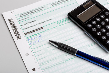 Steuererklärung ausfüllen
