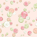 hand drawn buttons pattern