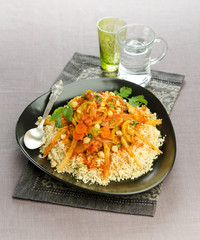 cous cous with seven vegetables