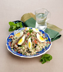 couscous with anchovies eggs olives
