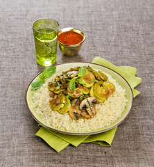 couscous with mushrooms