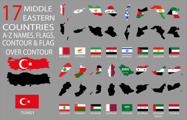 17 Middle Eastern countries