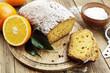 canvas print picture - Homemade orange cake