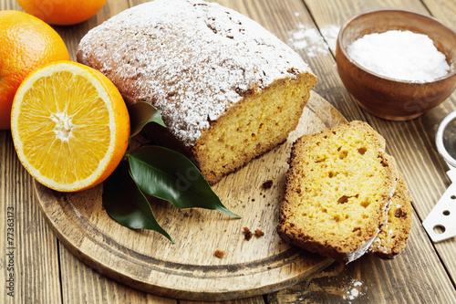 canvas print picture Homemade orange cake
