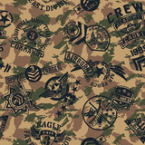 Military style patches  seamless vector pattern