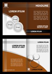 Brochure design template vector abstract