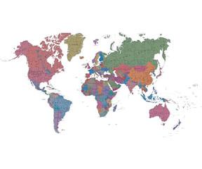 Weltkarte der Puzzleteile hergestellt