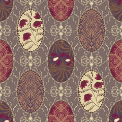 Seamless vintage pattern for fabric patchwork design wallpaper o