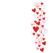 canvas print picture - Background with hearts