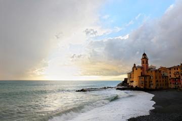 stormy weather to Camogli, italy