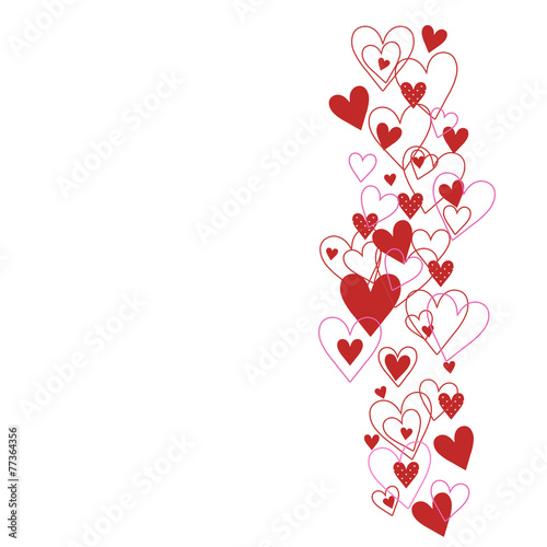 canvas print picture Background with hearts