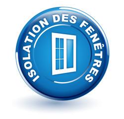 isolation des fenêtres sur bouton bleu