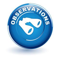 observations sur bouton bleu