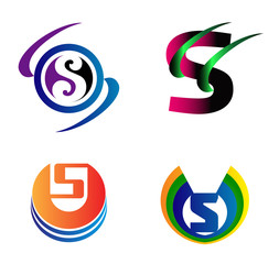Set Of Alphabet Symbols And Elements Of Letter S, such
