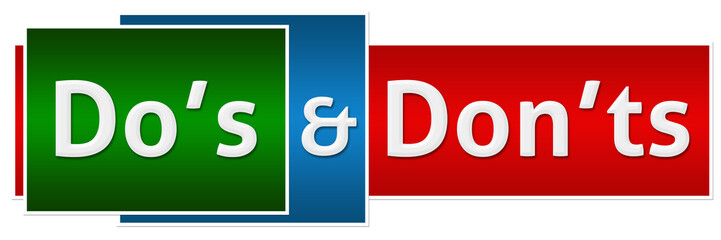 Dos Donts Green Red Button Style