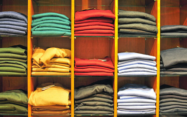 Clothes in the store