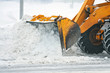 Leinwanddruck Bild - Clearing snow after a storm
