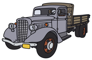 Hand drawing of a classic truck - not a real model