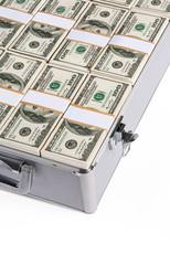 Suitcase full of cash