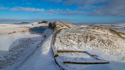 Milecastle 39 situated on Hadrian's Wall, England