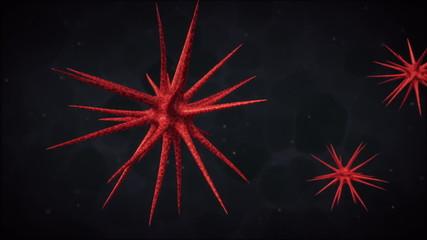 3D Medical Animation. Viruses