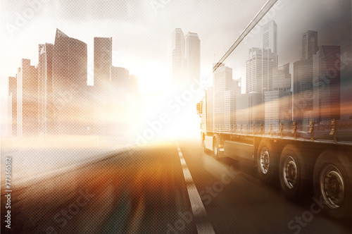 Truck and Skyline