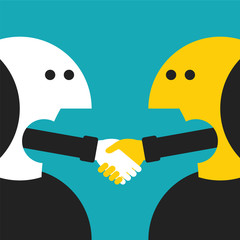 Vector concept of agreement in flat cartoon style