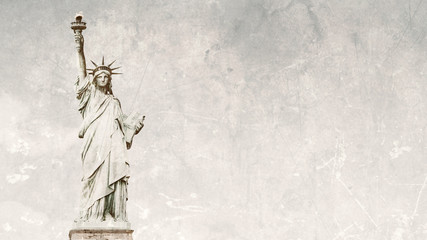 Statue of Liberty 16:9 grunge style background