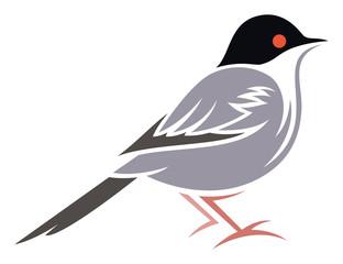 Stylized Bird - Sardinian Warbler
