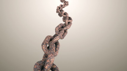 Rusty chain.Seamless loop