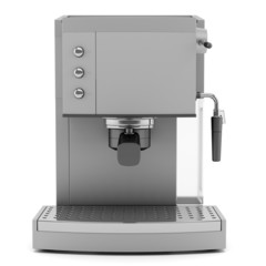 modern coffee machine isolated on white background