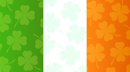 Background with flag of Ireland
