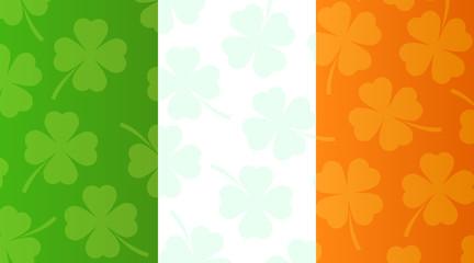 Background with flag of Ireland