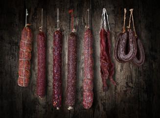 salami sausages