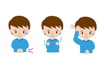 子供の症状(頭痛、腹痛、寒気)