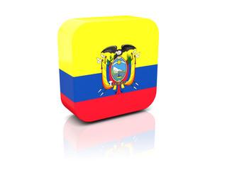 Square icon with flag of ecuador