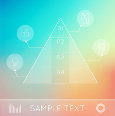 Infographic pyramide