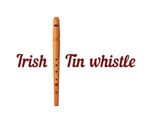 Wooden Tin Whistle