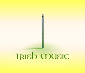 Card with Tin Whistle