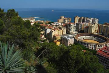 Málaga, panorámica, La Malagueta, Andalucía