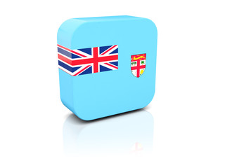 Square icon with flag of fiji