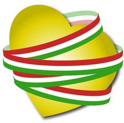 cuore italiano giallo