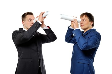 Business vision, competitors tracking or headhunters concept.